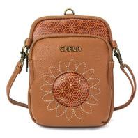 Charming Chala Cell Phone Purse Bag Mini Crossbody Detailed Sunflower Design