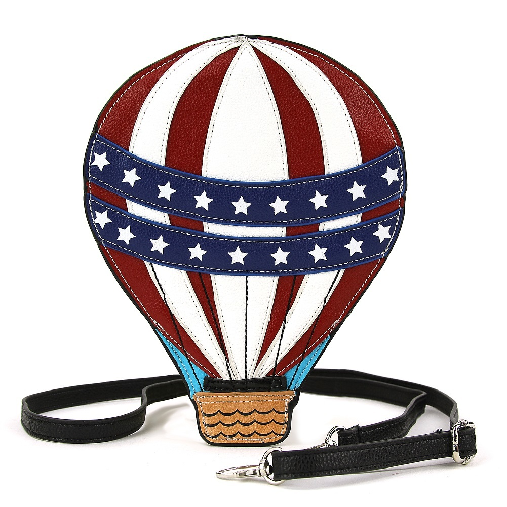 Sleepyville Critters SC Hot Air Balloon XBody Crossbody Bag in Vinyl Material