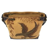 Charming Chala Safari Print Canvas Crossbody Majestic Eagle Bag Handbag Purse