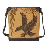 Charming Chala Safari Print Canvas Crossbody Majestic Eagle Bag Handbag Purse