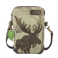 Charming Chala Majestic Moose Olive Cell Phone Purse Mini Crossbody Bag