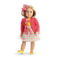 American Girl AG Kit's Photographer Set Dress Bow Shoes Sweater for Dolls