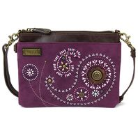 Charming Chala Beaded Paisley Print Mini Crossbody Bag Handbag Purse