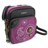Chala Organizer Cross Body Bag Purse Handbag Beaded Paisley Print