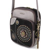 Chala Organizer Cross Body Bag Purse Handbag Beaded Rings Print