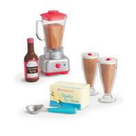 American Girl AG Blender and Milk Shake Set for Dolls Ice Cream Chocolate