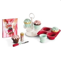 American Girl AG William Sonoma Cupcake Set for Dolls Pretend Food
