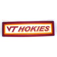 Virginia Tech Hokies VT Wooden Distressed College Sign