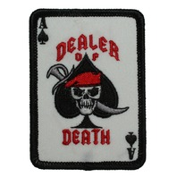 "Motorcycle Biker Uniform Patch 3"" x 2"" Dealer of Deaath Ace of Spades"