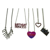 Lot of Justice girls Teen Chain Necklace and Pendants Birthday Heart Camera