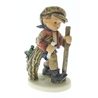 Goebel Hummel Figurine 386 On a Secret Path Boy walking TMK 5