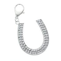 Rhinestone Bling Key Chain Fob Phone Purse Charm Luck Horse Shoe