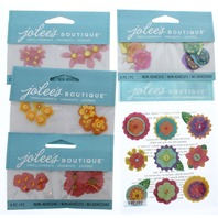 Jolee's Boutique Garden Botanical Flower Medley Lot Scrapbook/Card Embellishment