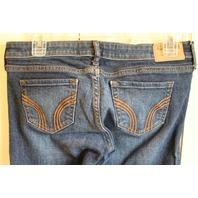 Girls Teens Hollister Sz 5R Blue Jeans 27 31 Crystals Studding