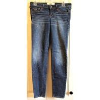 Womens Teens Hollister Sz 5R Blue Jeans 27 31 Crystals Studding
