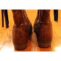 New Girls Youth Steve Madden Sz 4 Brown Western Boots  w/ tassel