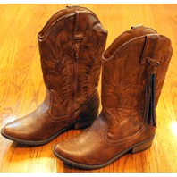 New Girls Youth Steve Madden Sz 4 Brown Western Boots  w/ tassel