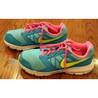 Girls Youth Nike Sz 3 Aqua w/Pink Laces Sneakers Shoes