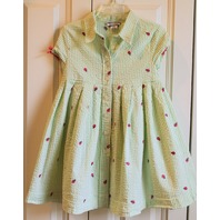 Girls Hartstrings Sz 4T Ladybug Dress & Shorts Lot Green White Stripe