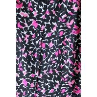 Jones New York womens Sz 12 ditsy wrap top dress black