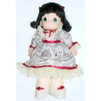 Precious Moments Classic Doll Maggie Zene Classifieds Dress Newspaper Print