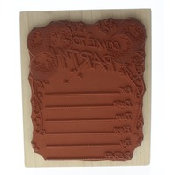 Hero Arts Come to a Party Invitation S481 Wooden Rubber Stamp