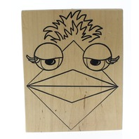 CC Rubber Stamps Muppet Puppet Style XL Bird Wooden Rubber Stamp