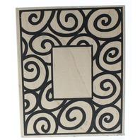All Night Media Spiral Swirl Frame 301K Wooden Rubber Stamp