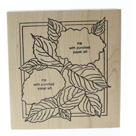 Make an Impression Botanical Hydrangea Poinsettia Garden Wooden Rubber Stamp