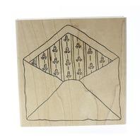 The Artful Stamper Ditsy floral Lined Envelope Wooden Rubber Stamp