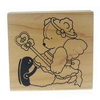 Daisy Kingdom Fairy Princess Teddy Bear Wooden Rubber Stamp