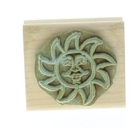 Stampin Up Smiling Sun Sketch Wooden Rubber Stamp