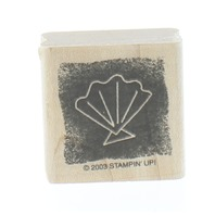 Stampin Up Silhouetted Seashell Sketch 2003 Wooden Rubber Stamp