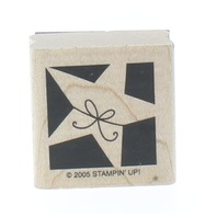 Stampin Up 2003 Memory Star Remember Wooden Rubber Stamp