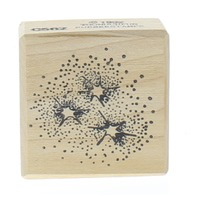 Too Much Fun Star Cluster Bursts Fireworks Star 1992 Wooden Rubber Stamp