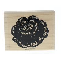 Stampin Up 2 part Cabbage Rose Garden Flower Wooden Rubber Stamp