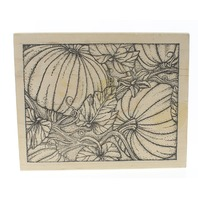 Peddler's Pack Pumpkin Patch Garden Fall Autumn Wooden Rubber Stamp
