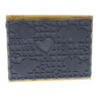Stampendous Valentine Heart Cluster Pannel Wooden Rubber Stamp