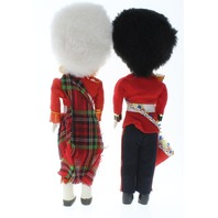 Hard Plastic Soldier Russian Scottish Irish Dolls Open Close Eyes