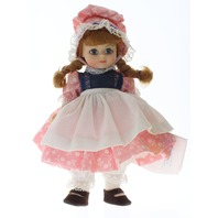 "Madame Alexander 8"" Doll Jill fell down the hill Girl in Tagged Outfit"