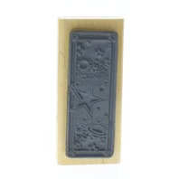 Stamp Oasis Star Panel Astral Planet Scene Wooden Rubber Stamp