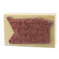 Great Impressions Warmest Greetings of the Season and Year Wooden Rubber Stamp