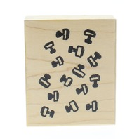Stamptastic Collage of Handled Stamps Picture Wooden Rubber Stamp