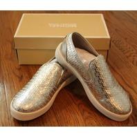 Girls New Michael Kors Sz 4 Ivy Alita Silver Slip On Shoes