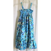 Hanna Andersson Sz 130 Euro Spaghetti Strap Blue Beach Dress