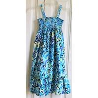Hanna Andersson Sz 130 Euro Spaghetti Strap Blue Beach Dress