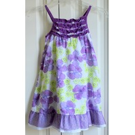 Toddler Girls Penelope Sz 4T Purple White Ruffle Dress