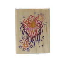 Stampendous Fireworks 4th of July Wooden Rubber Stamp