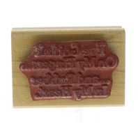 Museum of Modern Rubber Ink on My Fingers Quote Wooden Rubber Stamp