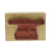 Congratulations on your Retirement Congrats Double D Wooden Rubber Stamp